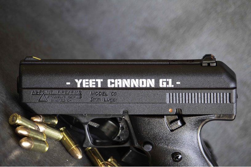 Hi-Point Firearms 9mm handgun YEET Cannon G1